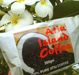 The 100% pure Atiu Island Coffee