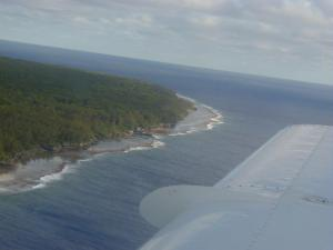 Your first view of Atiu Island